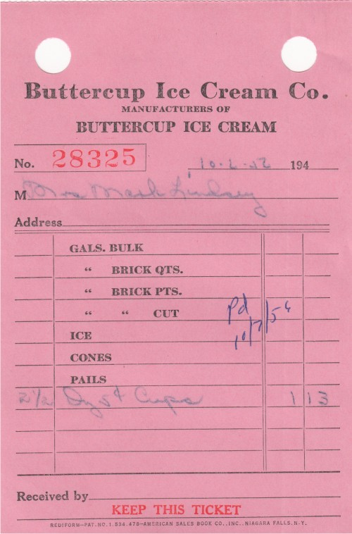 Receipt Rolling Paper Do You Remember Buttercup Ice Cream  Ourhamletorg Sample Receipts Of Payment Pdf with Receipt Template Free Download Word Image Vendor Invoice Posting In Sap Word